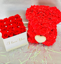 Load image into Gallery viewer, Eternity Rose Box & Red Rose Bear