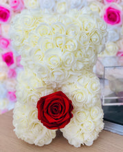 Load image into Gallery viewer, Ivory Rose Bear With Eternity rose