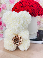 Load image into Gallery viewer, Glass Preserved Flower Vase & Rose Bear With Real Eternity Rose