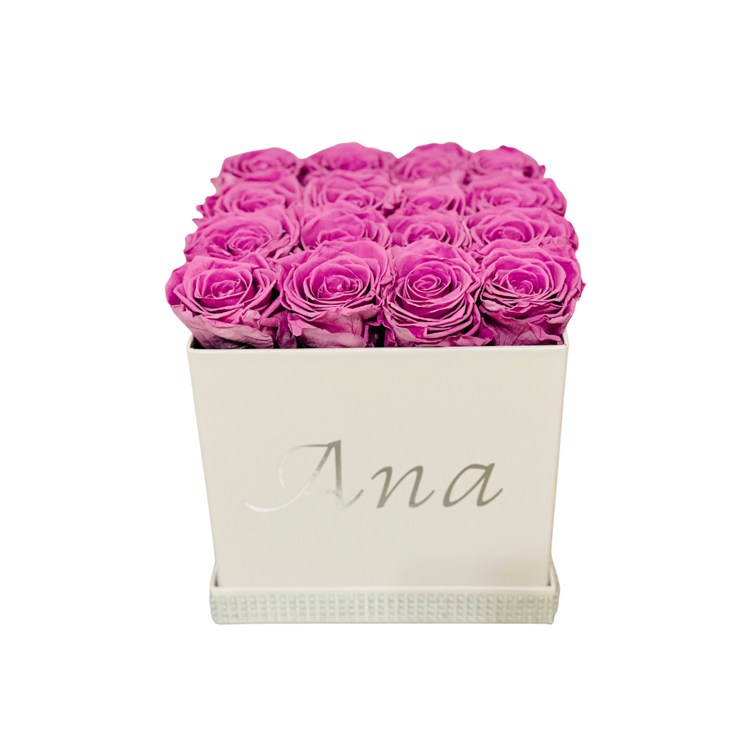Large Square Preserved Flower Box