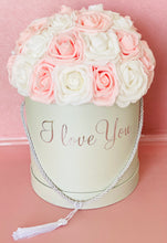 Load image into Gallery viewer, I Love You White and Pink Rose Box
