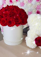 Load and play video in Gallery viewer, Preserved Flower Box & Rose Bear With Real Eternity Rose