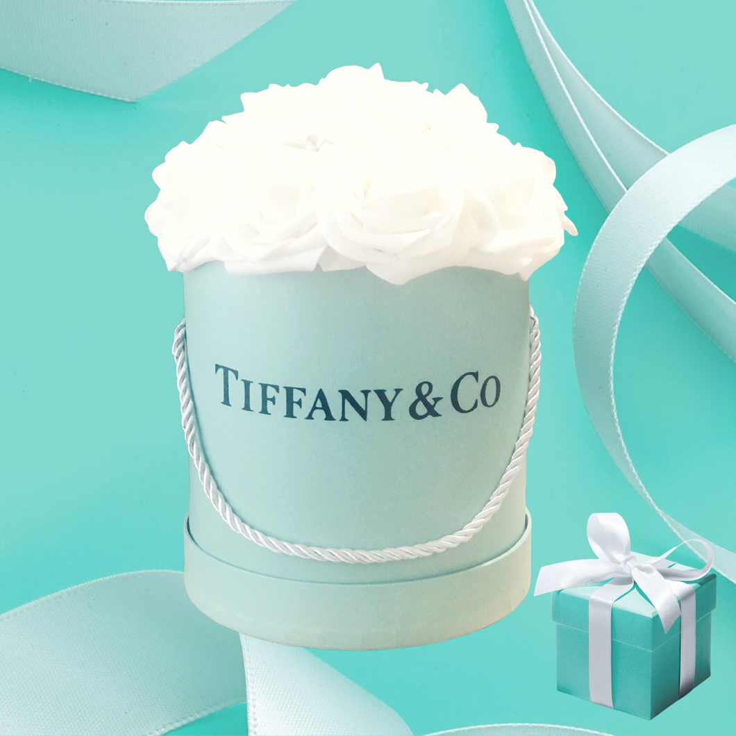 Tiffany Blue Rose Box
