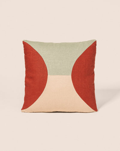 Coussin Circle - Amande & Brique, Playground, Goodmoods Éditions.