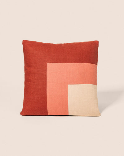 Coussin Square - Corail & Brique, Playground, Goodmoods Éditions.