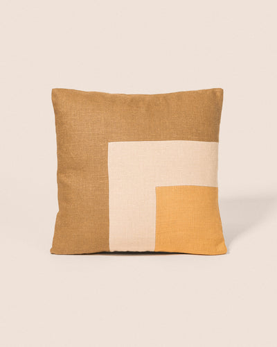 Coussin Square - Camel & Gold, Playground, Goodmoods Éditions.