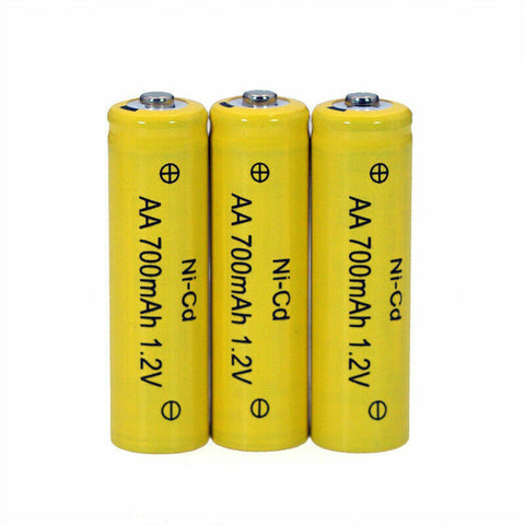 AA AAA Rechargeable Solar Light Batteries 1.2v 600,700mAh AA Nicd Discount Price