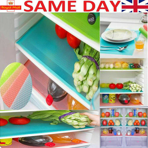 1 4 Pcs Easy Clean Kitchen Cabinet Pad Anti Slip Fridge Liner Mat Fast Free