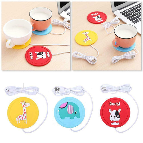 USB Silicone Heating Coaster Heat Warmer Electric Insulation Mug Cup Heater Mat