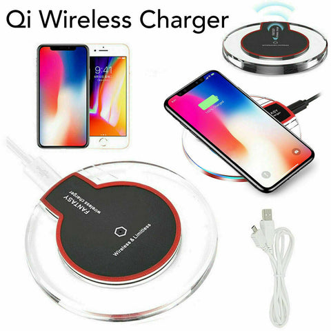 Fast Qi Wireless Charger Charging Pad For Samsung iPhone Xs Xr S8 S9 S10