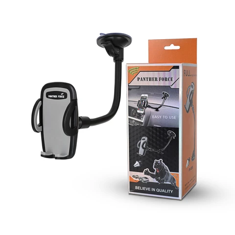 LONG FLEXY ARM AUTO ADJUST GRIP MOBILE PHONE CAR HOLDER - PF009