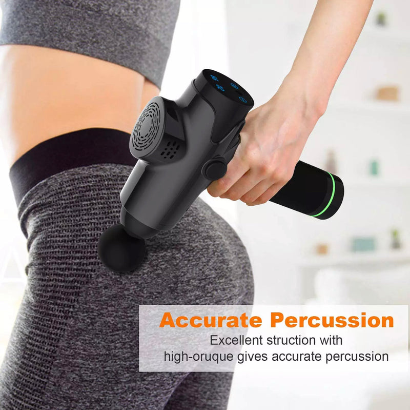 EM003 Black Exercising Pain Relief Massage Gun,Body Muscle Recovery Deep