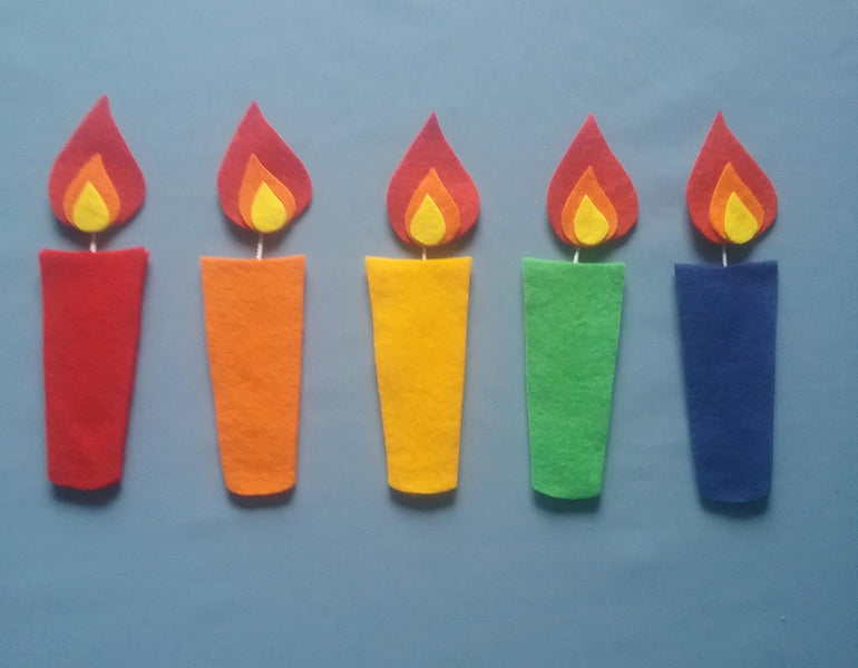 Five Little Birthday candles