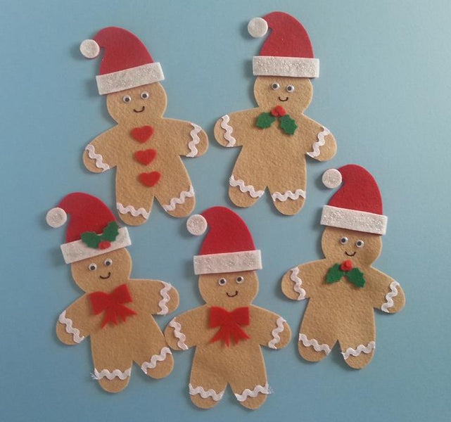 Five Christmas Gingerbread Men