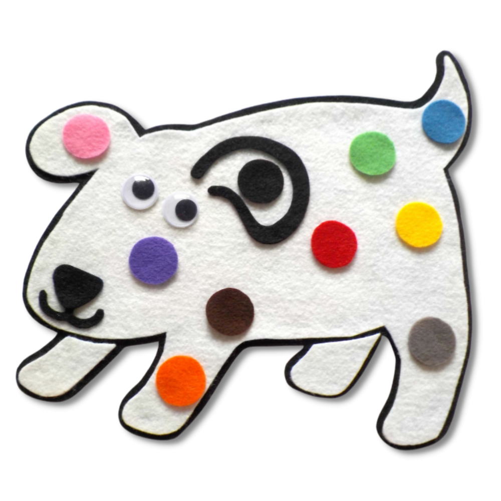 Dog's Colourful Day Felt Set Pattern