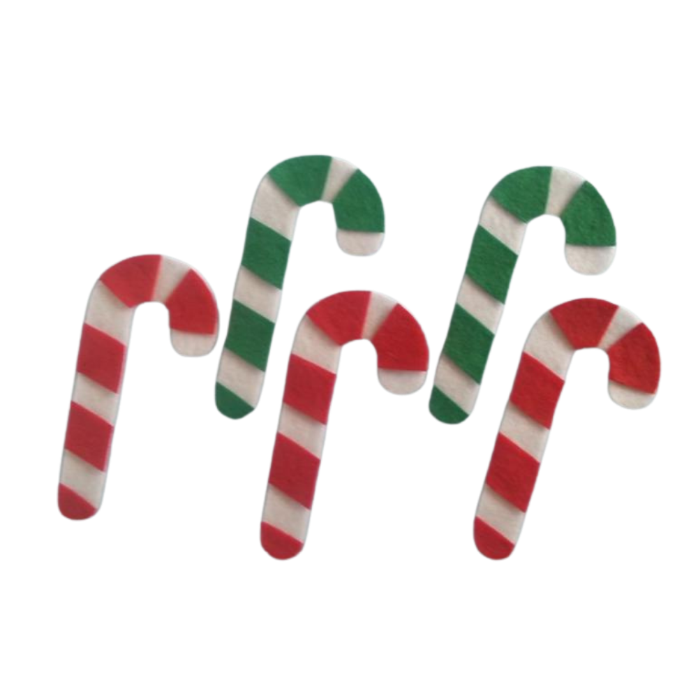Five Candy Canes Felt Set Pattern