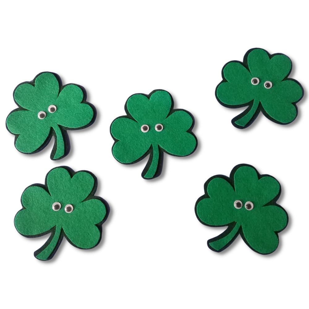 Five Little Shamrocks Felt Set Pattern