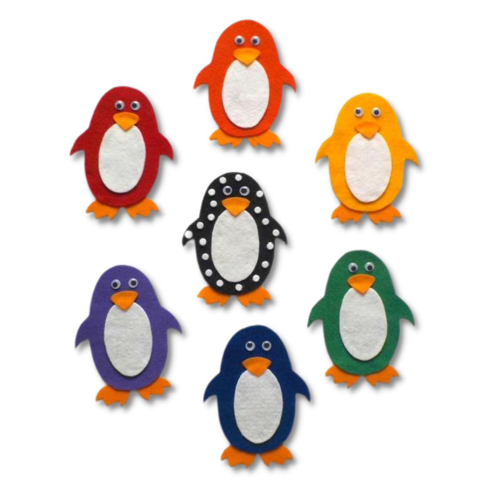 Pippa's Penguins Felt Set Pattern