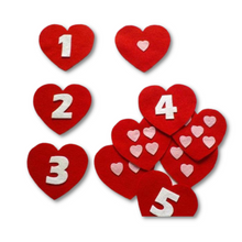 Load image into Gallery viewer, Perfect Match Valentine's Counting Felt Set Pattern