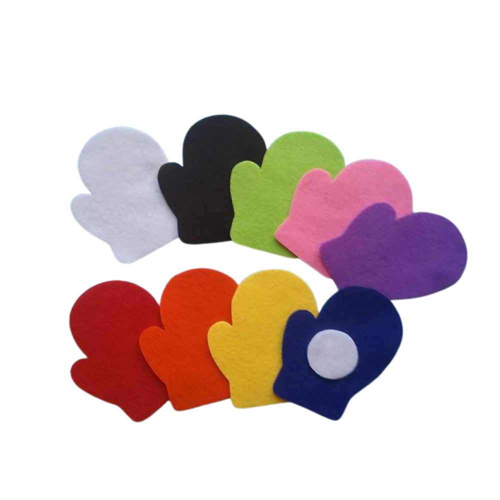 Snowball and Mitten Hide and Seek Colours Game Felt Set Pattern