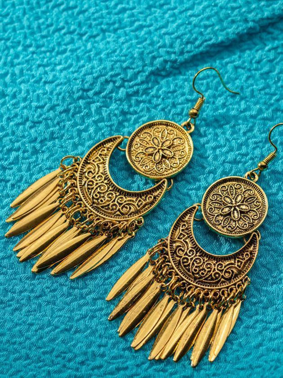 Tribal Vintage Tassels Alloy Earrings