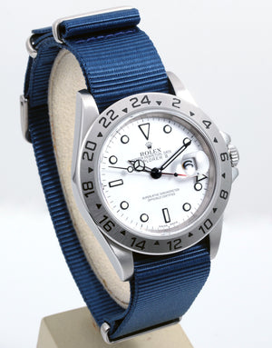 Load image into Gallery viewer, Rolex Explorer II 16570 - blue NATO Style Strap