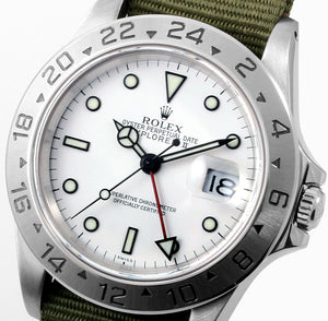 Load image into Gallery viewer, Rolex Explorer II 16570 - Olive NATO Style Strap