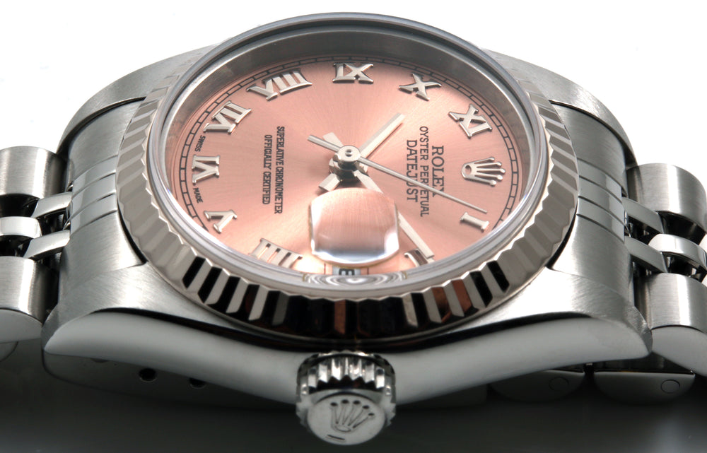 Load image into Gallery viewer, Rolex Ladies Steel Datejust Salmon Roman Dial Jubilee Band