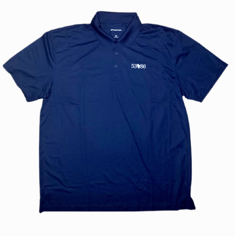 Mens Embroidered 53086 Zip Code for Slinger Wisconsin  Polo Shirts