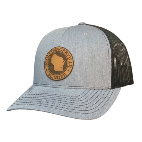Heather Grey and Black Schleisingerville To Slinger Hat