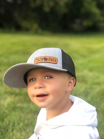 Heather Grey and Black 53086 Kid's Hat