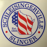 Scheisingerville To Slinger America Circle Decal
