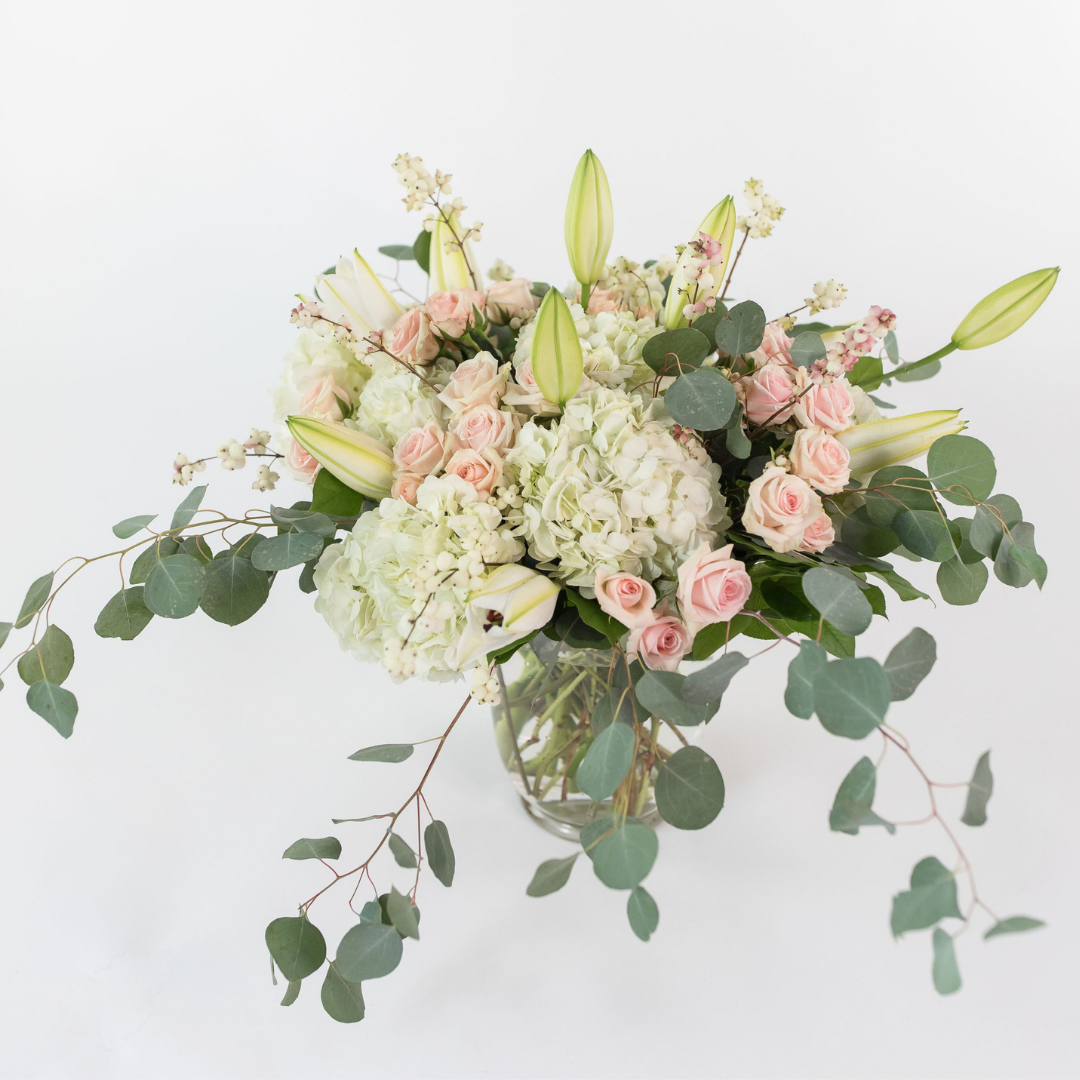 Hydrangea and Spray Roses