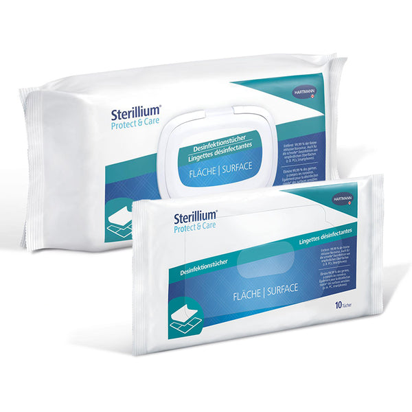 Lingettes désinfectantes de surface Sterillium® Protect & Care, 10 lingettes