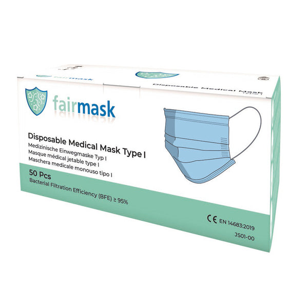 Disposable surgical mask type I