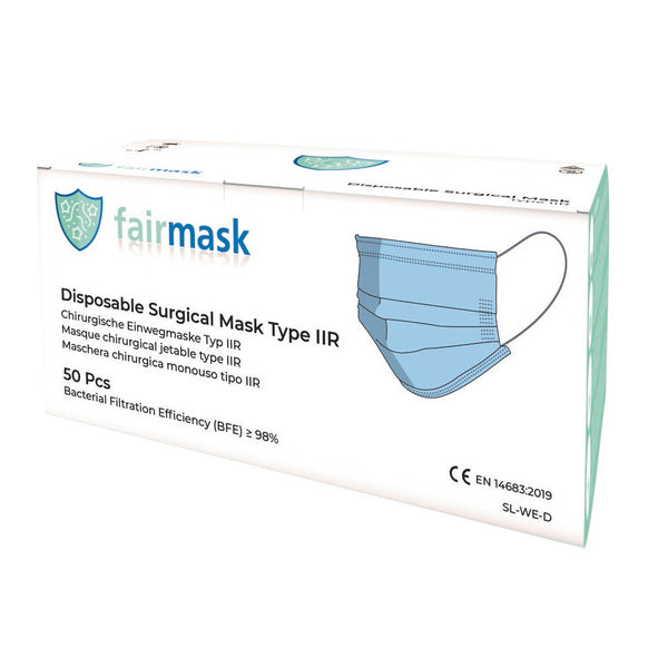 Disposable surgical mask type IIR