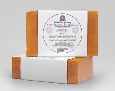 100% All-Natural Turmeric and Tea Tree Soap Bar Soap Ya'Della Beauty