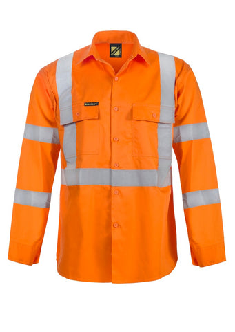 Mens Workcraft Lightweight Hivis Long slv Shirt