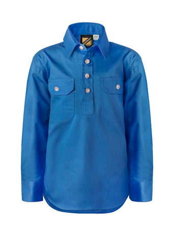 Kids Workcraft Long Slv Work Shirt