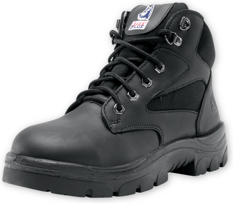 Ladies Steel Blue Parkes Zip Sided Safety Boot