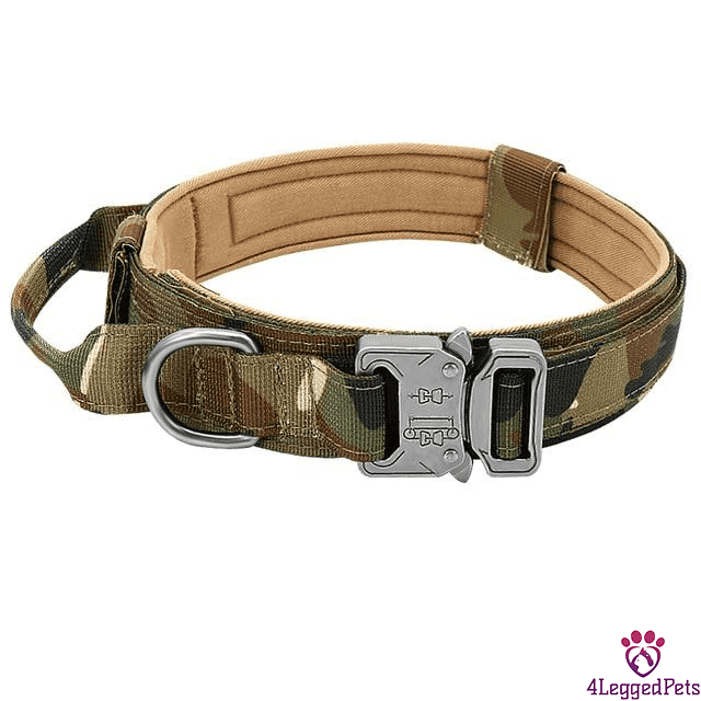 4LEGGEDPETS Collar / Leash Set Camouflage / XL