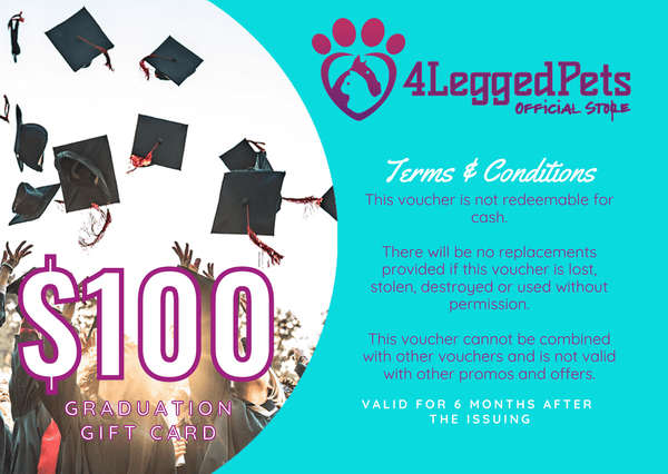 4LEGGEDPETS Graduation Card $100