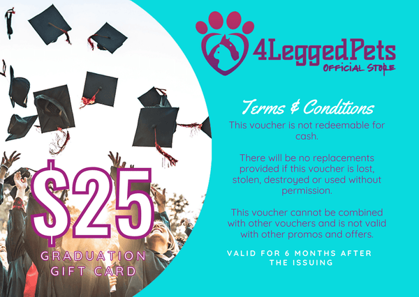 4LEGGEDPETS Graduation Card $25