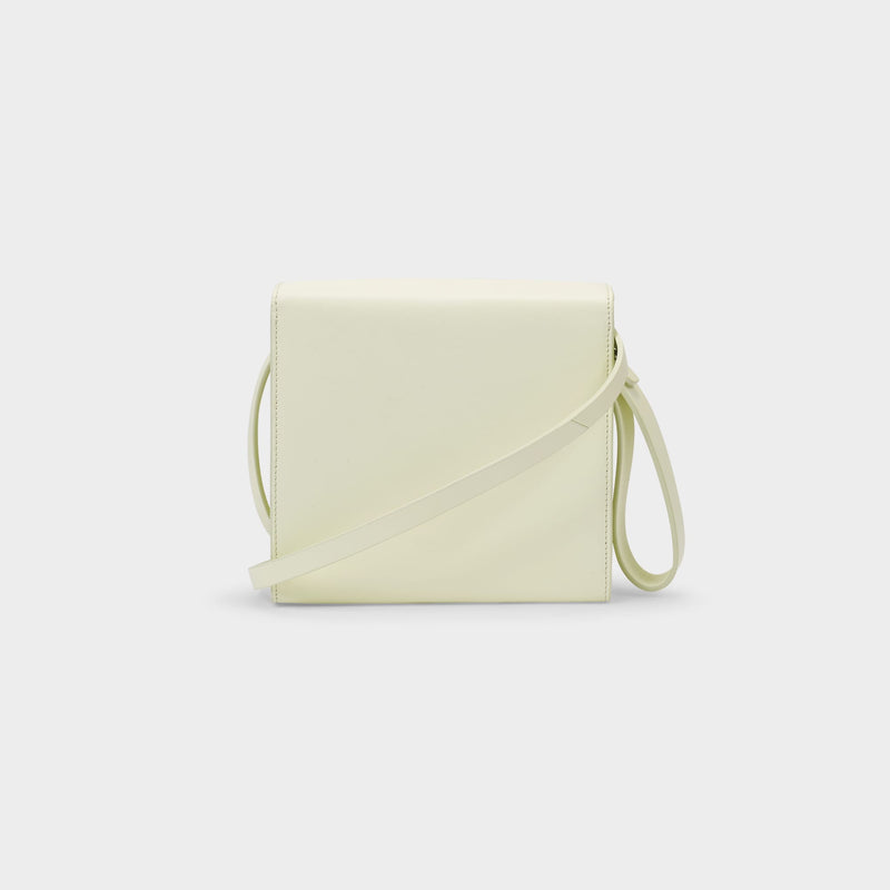 Pouch in Yellow Off Lime Leather