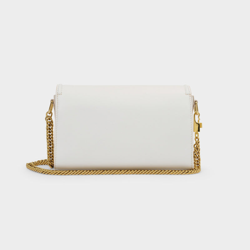 The Story Crossbody Bag in White Smooth Leather