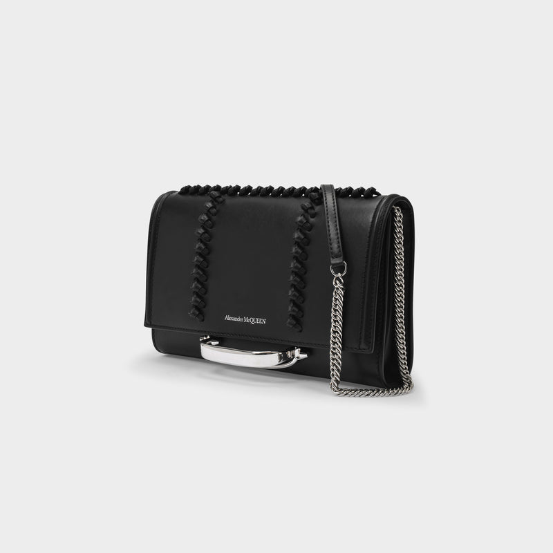 Sm. Story Crossbody Bag in Black Smooth Leather