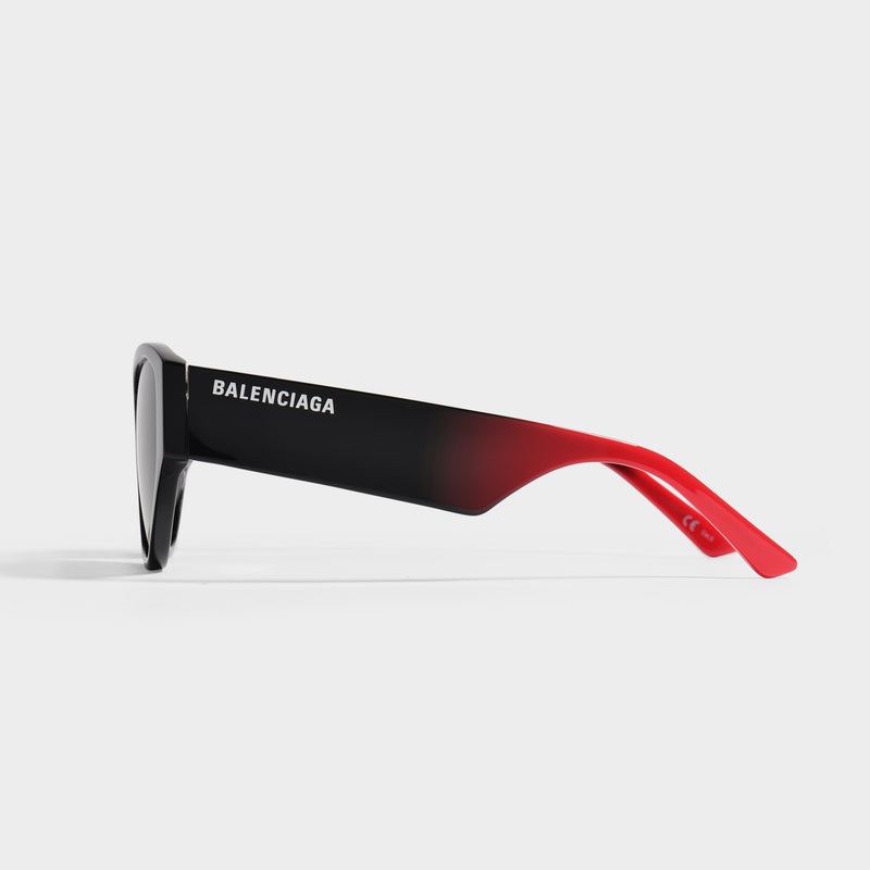 Cat Eye Sunglasses In Printed Balck and Red Acetate