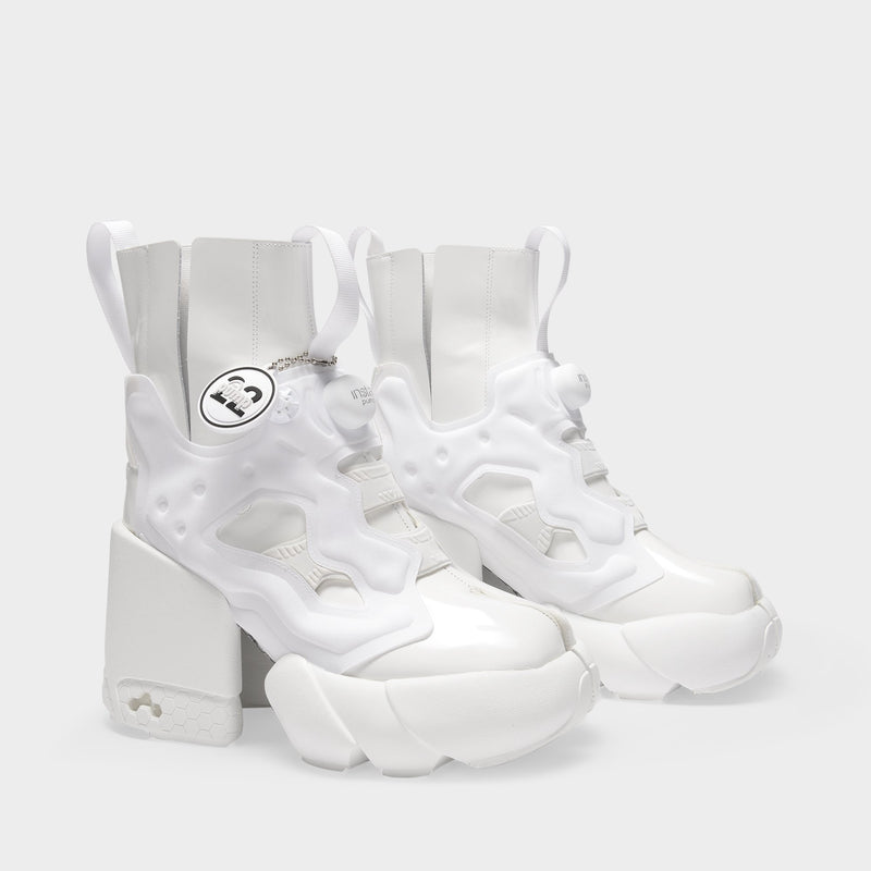 Reebok Tabi Instapump Fury Sneakers in White Leather
