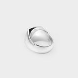 Cushion Ring in Silver and Black Onyx