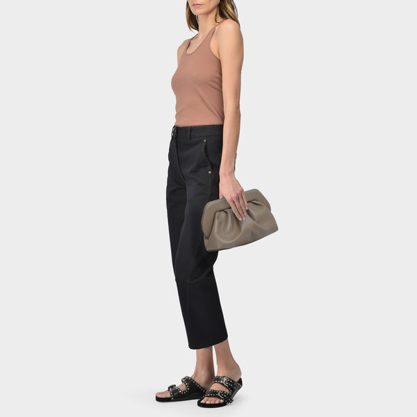 Bios Basic Eco Clutches in Mushroom Synthetic Leather